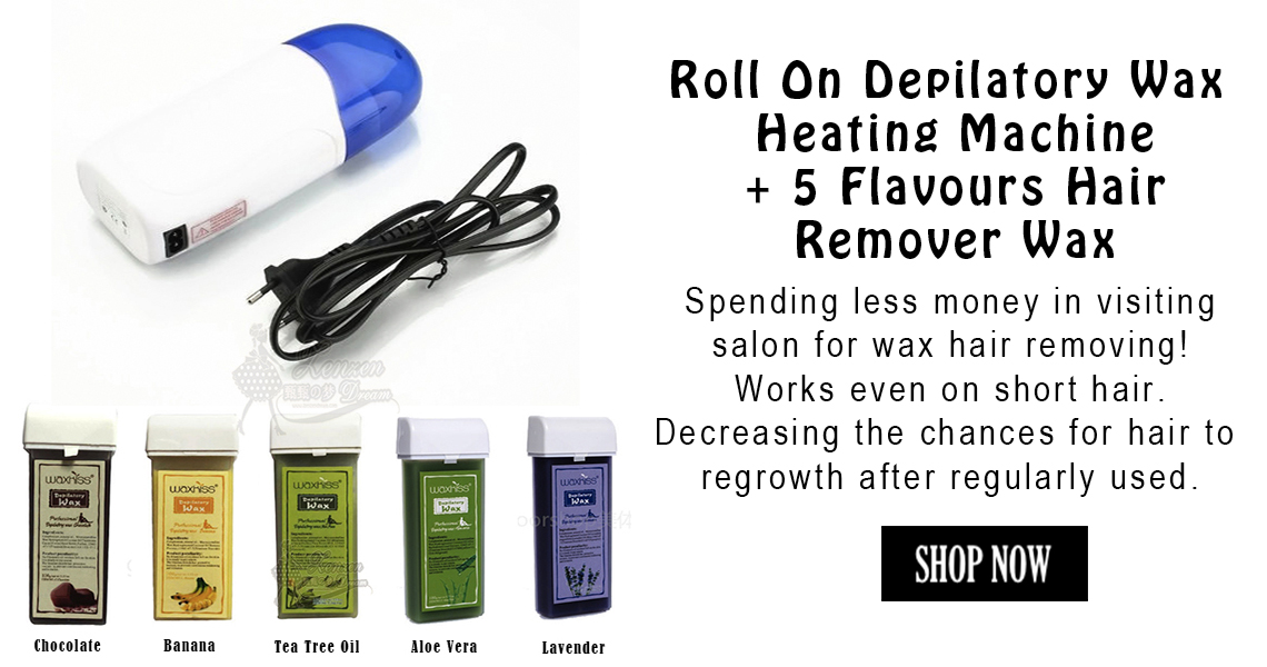 Shop the Roll On Depilatory Wax Heating Machine + 5 Flavours Hair Remover Wax