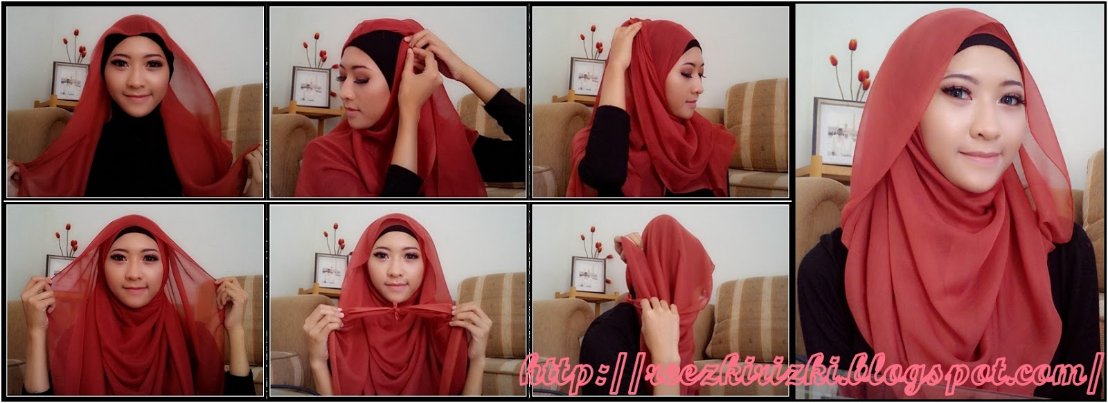 Tutorial Hijab Segi Empat Untuk Jalan Jalan Tutorial Hijab Paling