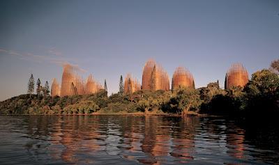 Centro culturale Tjibaou di Renzo Piano in Nuova Caledonia