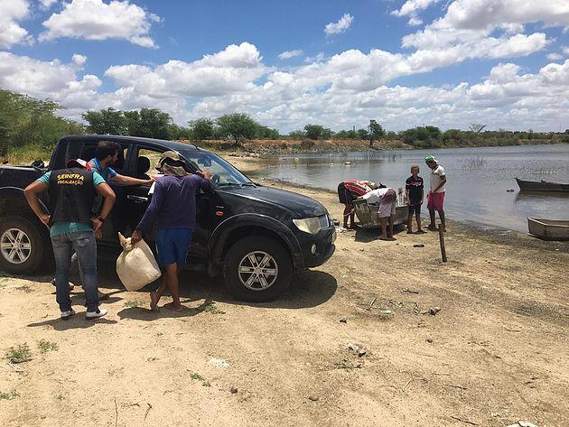 Em Delmiro Gouveia, Secretaria municipal de Meio Ambiente apreende equipamento de pesca irregular no açude da Pedra Velha