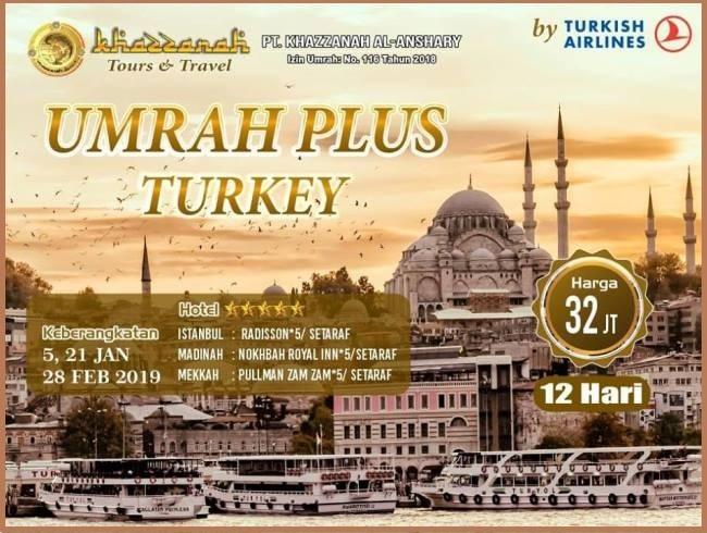 umroh februari plus turki
