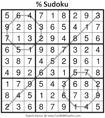 Answer of % Sudoku Puzzle (Daily Sudoku League #214)