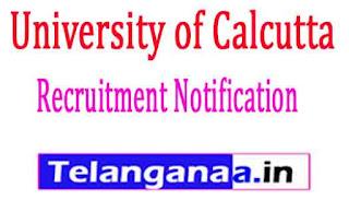 University of Calcutta Recruitment Notification2017