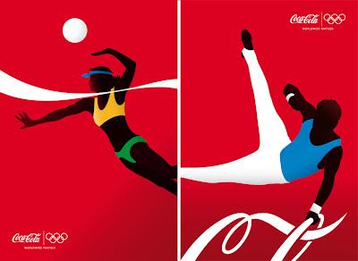 Cartel de coca-cola y olimpiadas