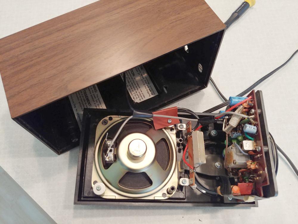 vintage radio guts