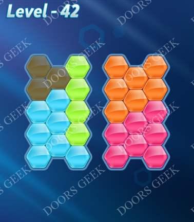Block! Hexa Puzzle [5 Mania] Level 42 Solution, Cheats, Walkthrough for android, iphone, ipad, ipod