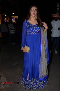 Telugu Actress Tejaswi Madivada Pos in Blue Long Dress at Nanna Nenu Na Boyfriends Audio Launch  0113.JPG