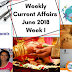 Weekly Current Affairs June 2018- Week I