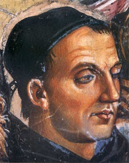 A detail from a Luca Signorelli fresco in Orvieto cathedral, thought to represent Fra Angelico
