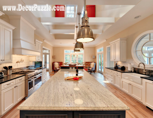 River white Granite countertops, white granite worktops, white traditional kitchen