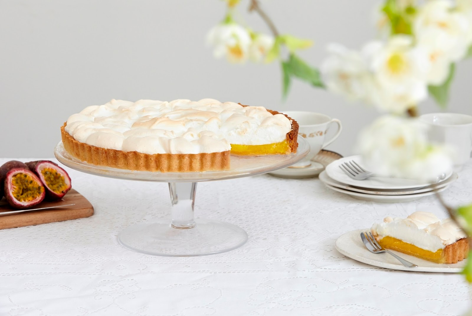 Passion Fruit Meringue Pie:Macmillan's World's Biggest Coffee Morning