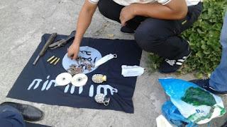 У вербовщика обнаружены самодельные гранаты и боеприпасы