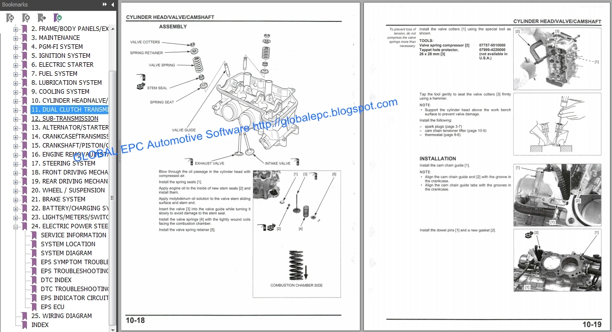 automotive repair manuals utv honda pioneer  series