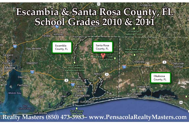 Map Of Florida School Districts.Love To Live In Pensacola Florida How To Look Up School Grades In
