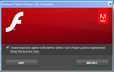 Adobe Flash Player Installer - Agree to the terms of the Flash Player License Agreement