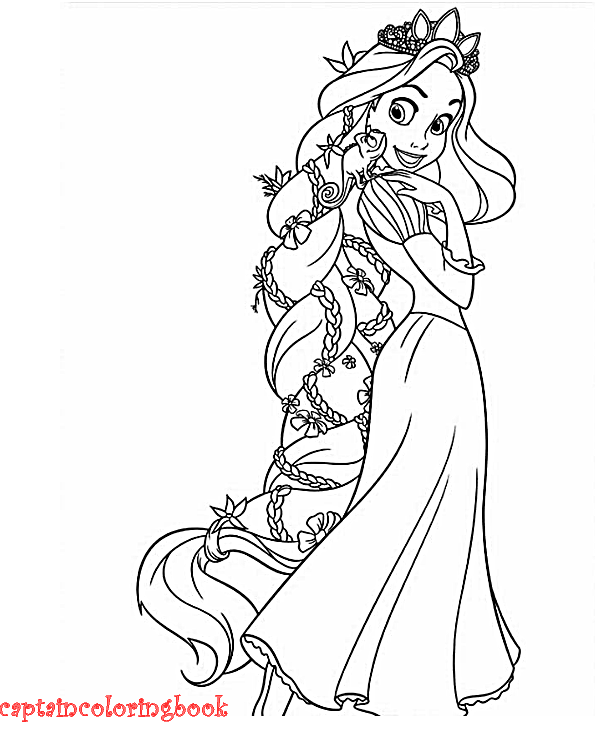 rapunzel and flynn coloring page printable - Tangled Coloring Pages Printable