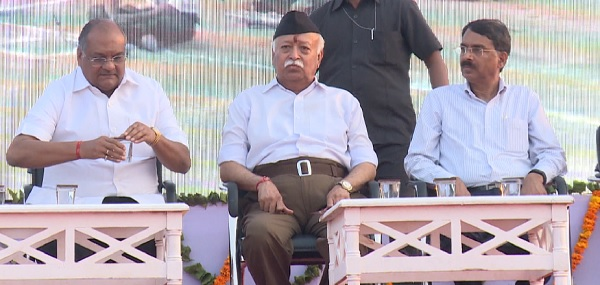 mohan bhagwat, rss chief mohan bhagwat, rss chief, rss, mohan bhagwat rss, mohan bhagwat speech, mohan bhagwat security, mohan bhagwat latest speech, rashtriya swayamsevak sangh, मोहन भागवत, Seva Bharti, Seva Sadav, Vasundhara Raje, Ashok Parnami