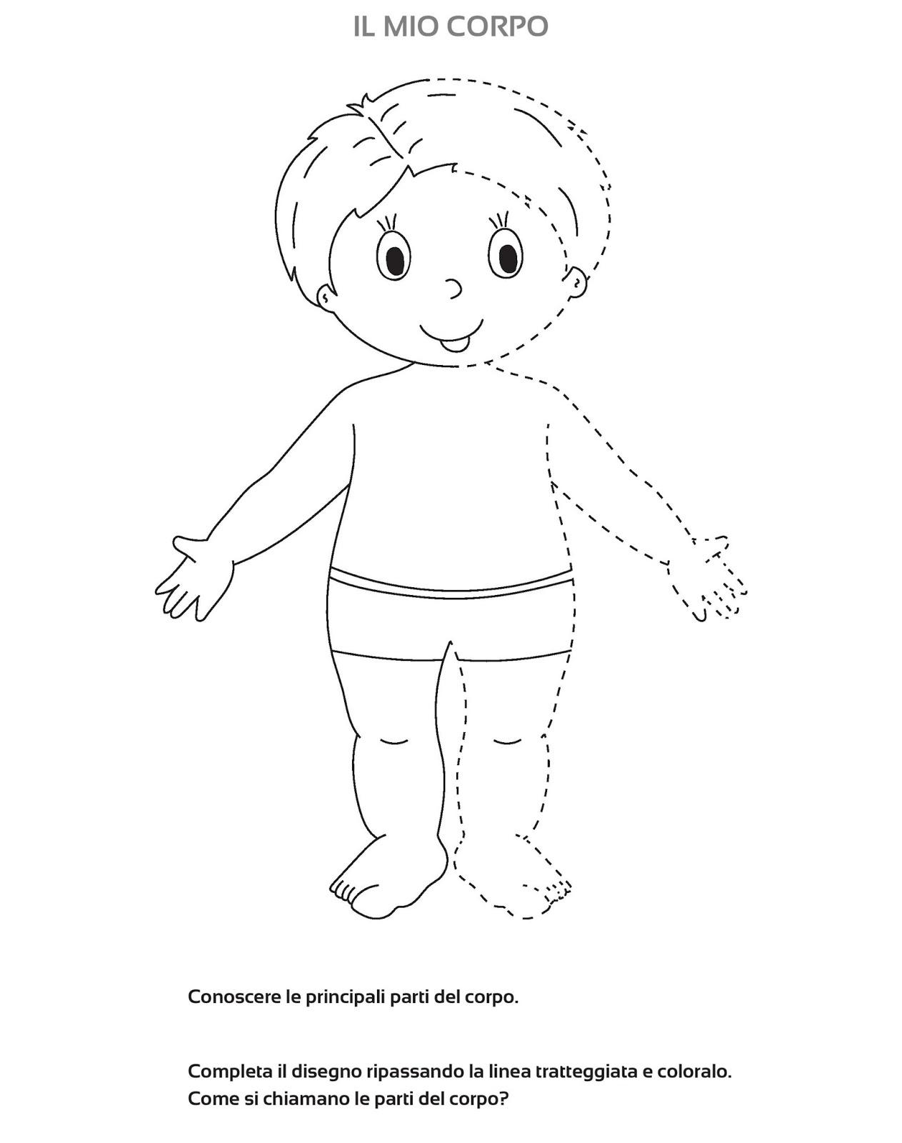 La maestra Linda : Lo schema corporeo