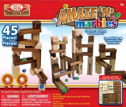 Amaze N Marbles wood marble race track set