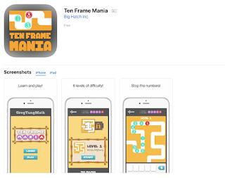 Happy Teaching & Happy Tech-ing!: Ten Frame Mania App FREE