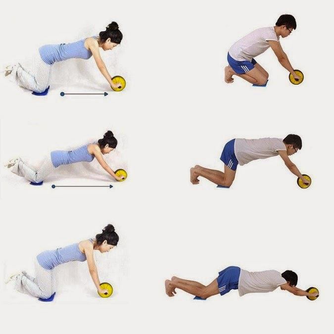 Abdominal with Roller for Not Forcing Back