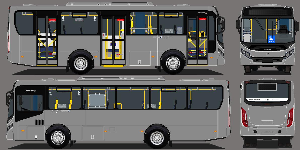 Desenho De Onibus Da Cidade E Do Estado De Sp