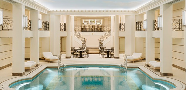 Pool in renovated Ritz Paris