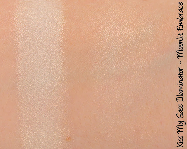 Kiss My Sass Moonlit Embrace Illuminator Swatches & Review
