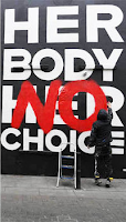 Defaced Pro-Choice poster