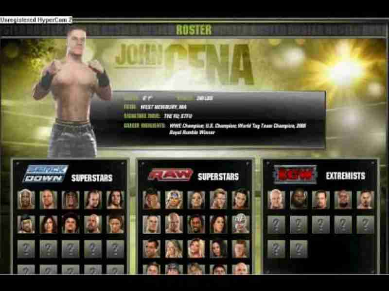 WWE Smackdown VS Raw 2008 PC Game Screen Shots