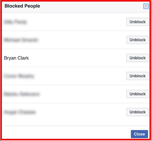how to unblock someone on facebook mobile