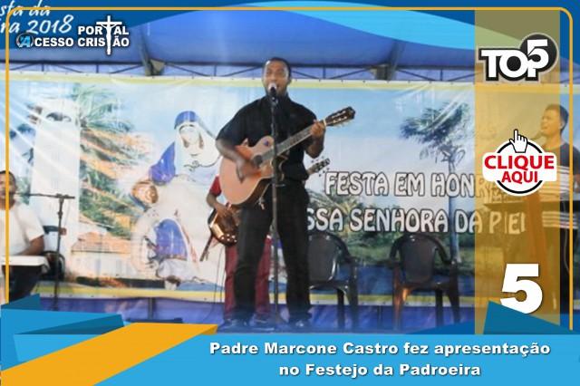 Padre Marcone Castro faz apresentação