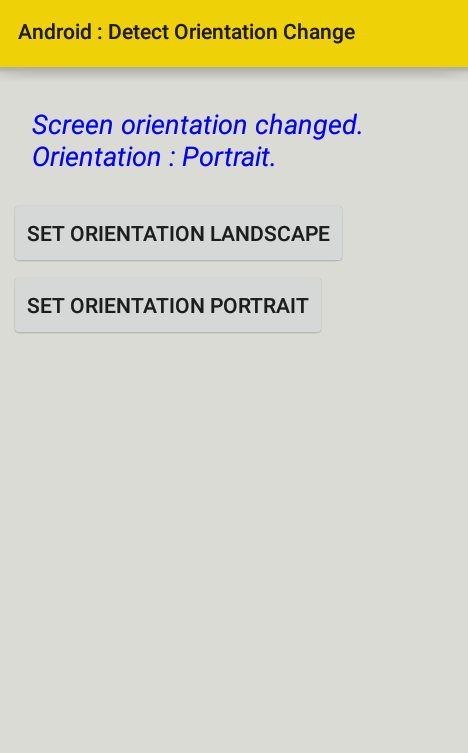 android - How to detect orientation change