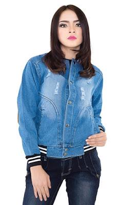 jaket jeans wanita, jaket jeans murah, jaket jeans bandung