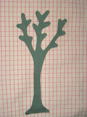 adapted tree pattern ready to be appliqued for Sweet Land of Liberty