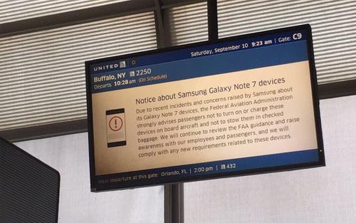 Larangan Samsung Galaxy Note 7