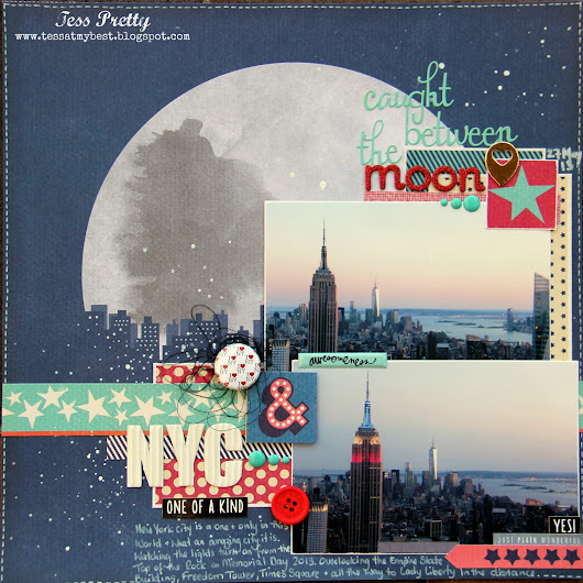 AT MY BEST...: 'The Moon & NYC' - Layout