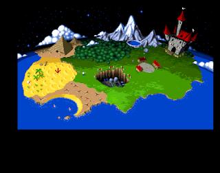 En la imagen una captura de pantalla que muestra una isla con 8 regiones