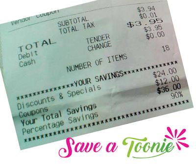 saveatoonie.ca grocery receipt