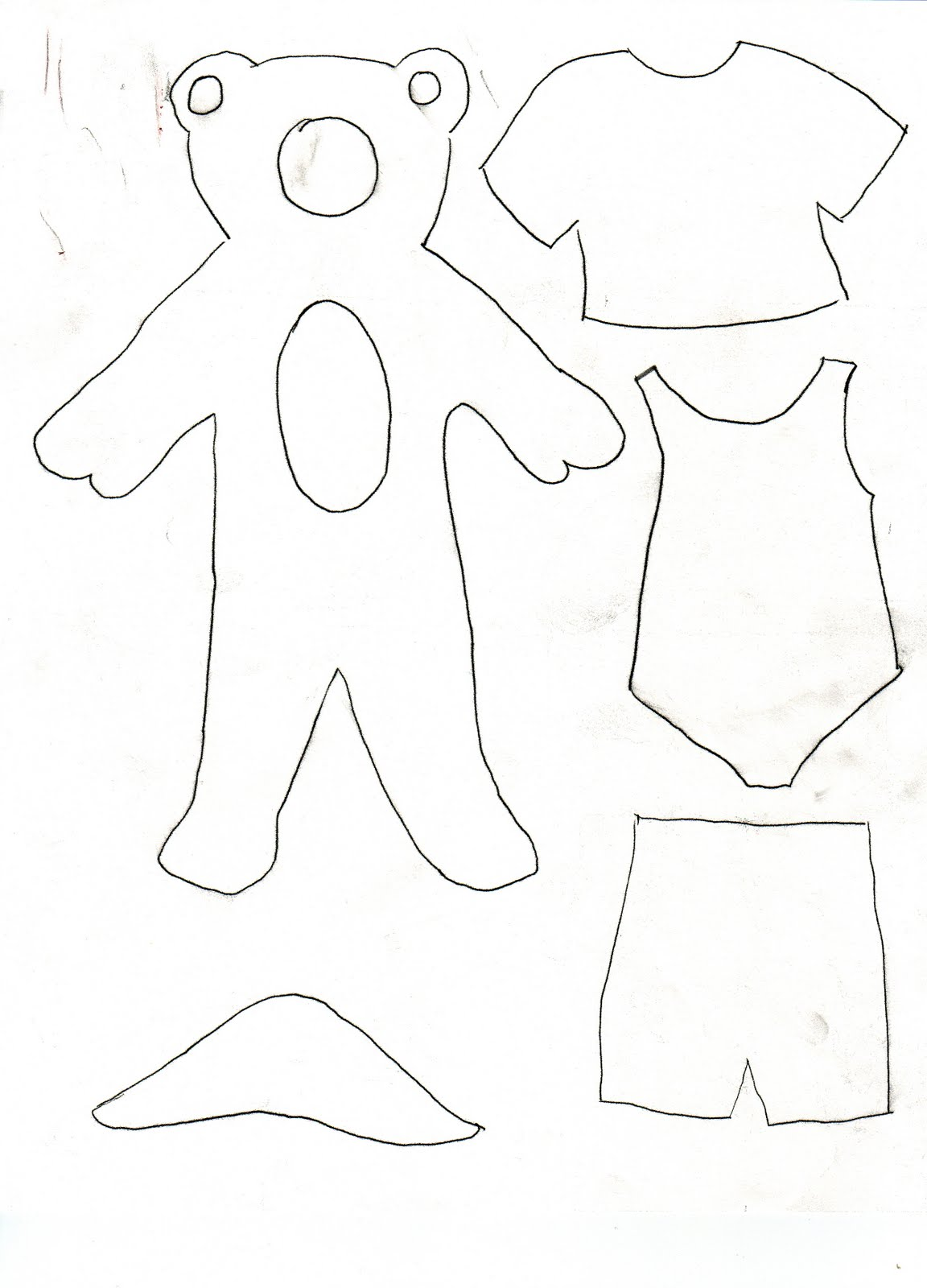 CRYSTAL CLEAR: Teddy bear sort of paper doll