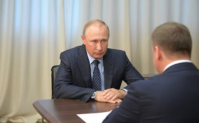 Vladimir Putin had a meeting with Acting Governor of Ryazan Region Nikolai Lyubimov.