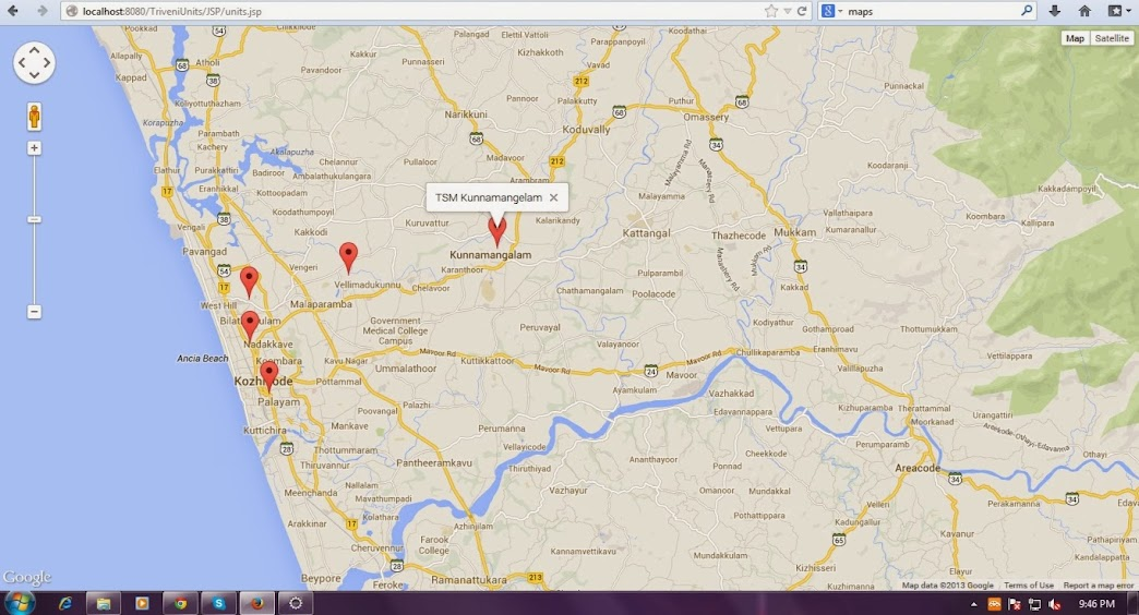 Java Google Map multiple marker apps