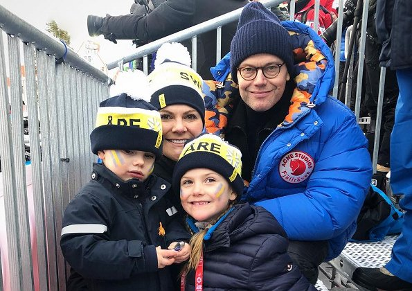 King Carl Gustaf, Queen Silvia, Crown Princess Victoria, Prince Daniel, Princess Estelle and Prince Oscar