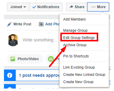 How do you change your facebook group name