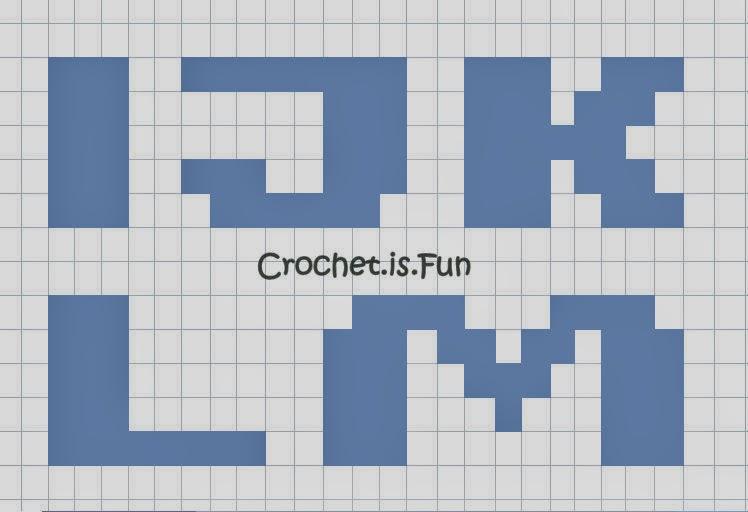Crochetfun Free Pattern Alphabet Graph