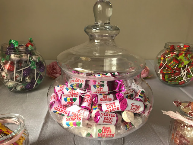 personalised love heart sweets in a glass jar with lid