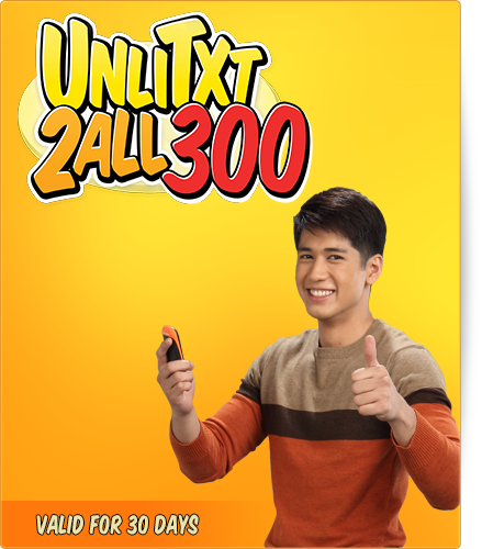 Talk n Text UA300 Promo -1 month / 30 Days Unli-Text to All Networks