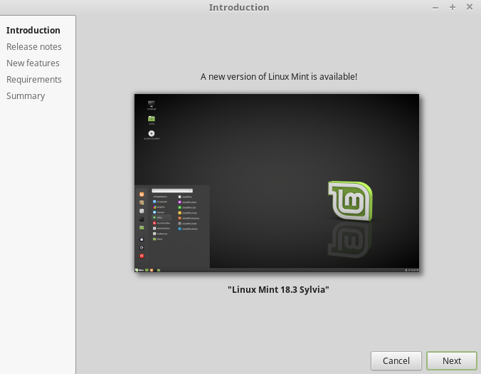 Upgrade Linux Mint 18.3 Sylvia