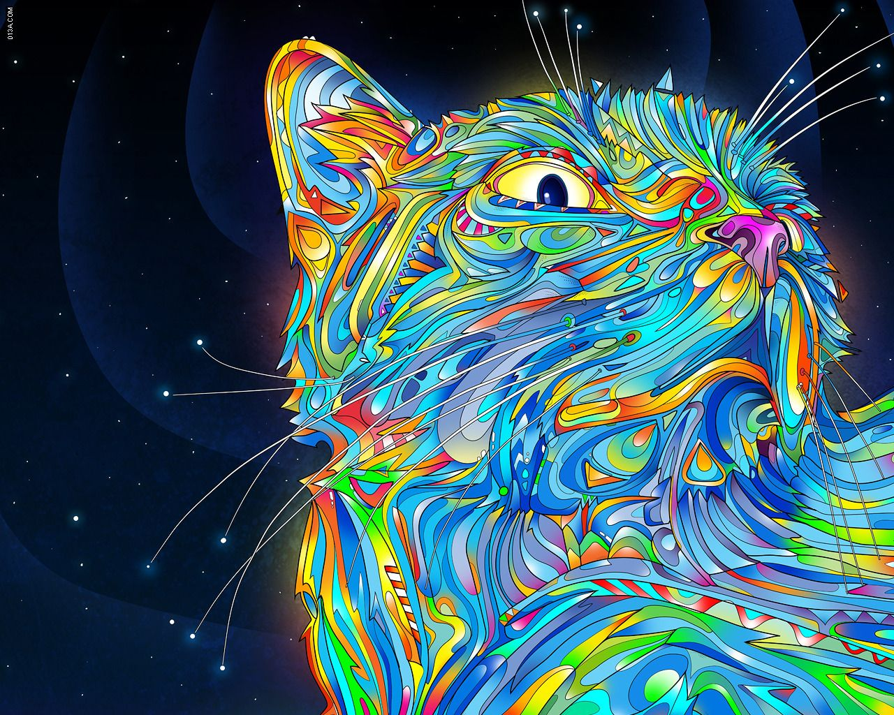 The Daily Desktop: Psychedelic Animals!