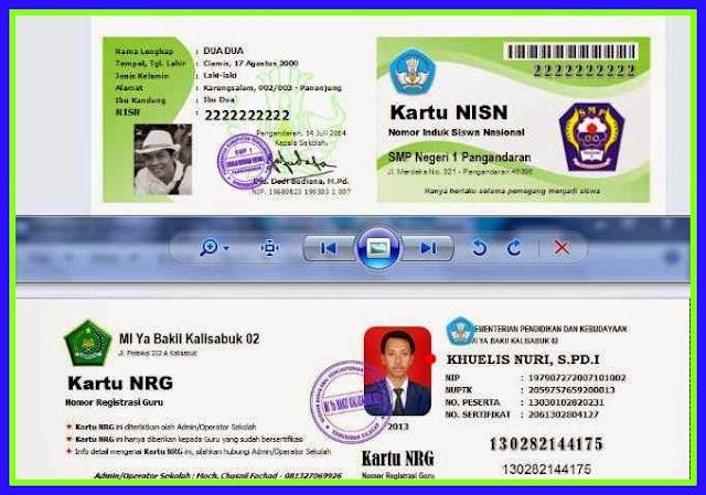Aplikasi Cetak NRG Terbaru Sesuai Juknis